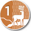Level 1 - White Tail Deer wayfinding logo.