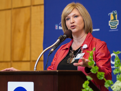 Dr. LouAnn Woodward, vice chancellor for health affairs and dean of the School of Medicine