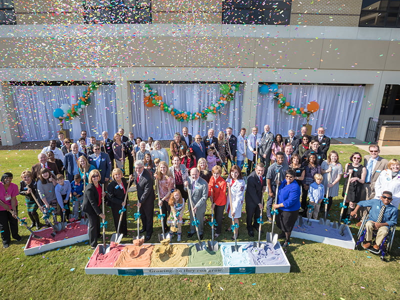 Patients, donors and staff celebrated the groundbreaking of the new pediatric tower on Dec. 1, 2017