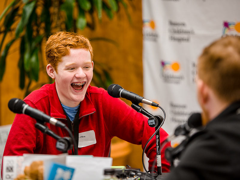Children's of Mississippi patient Griffin Threatt of Clinton kicked off the 19th annual Mississippi Miracles Radiothon with an interview with on-air personality Ryan Johnson of Q101 in Meridian.