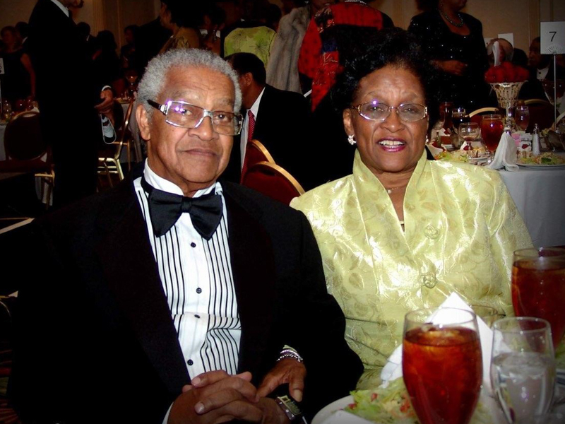 Dr. Aaron Shirley and Dr. Ollye Shirley attend a gala together in 2008. (Photo courtesy of Terrence Shirley)