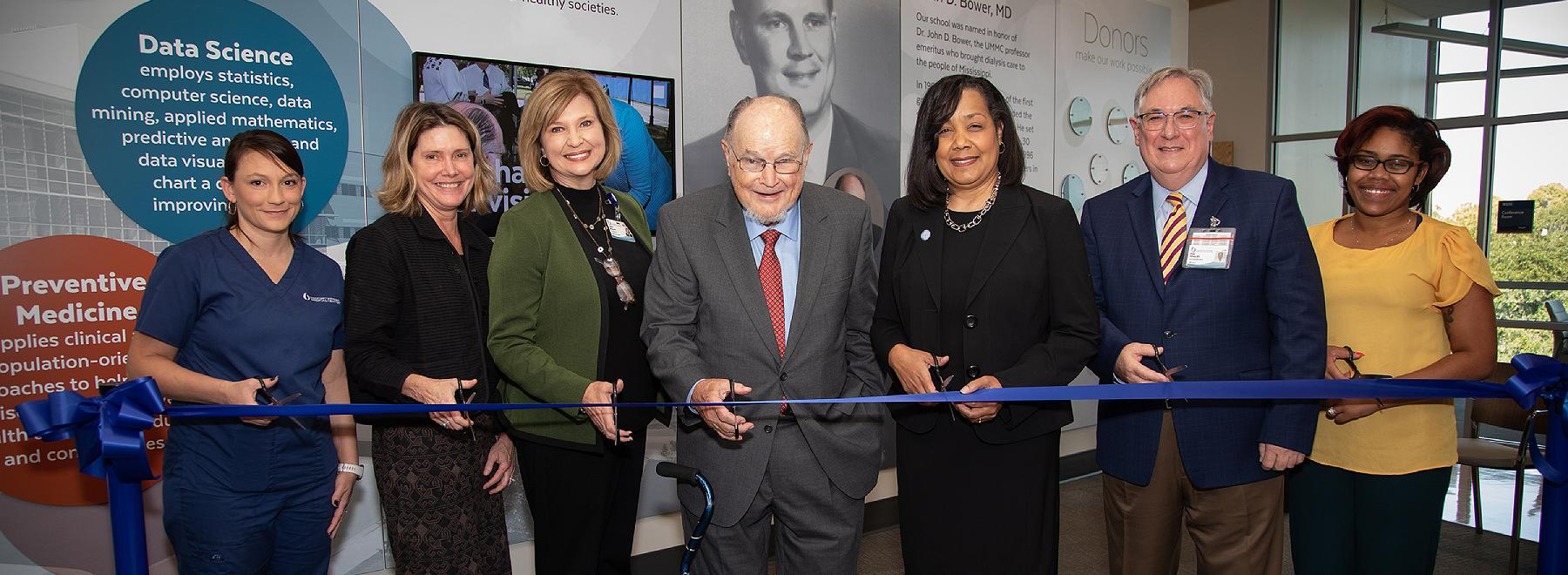 School of Populaition Health leadership cut ribbon on new space in the Translational Research Center