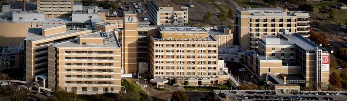Overhead view of UMMC campus