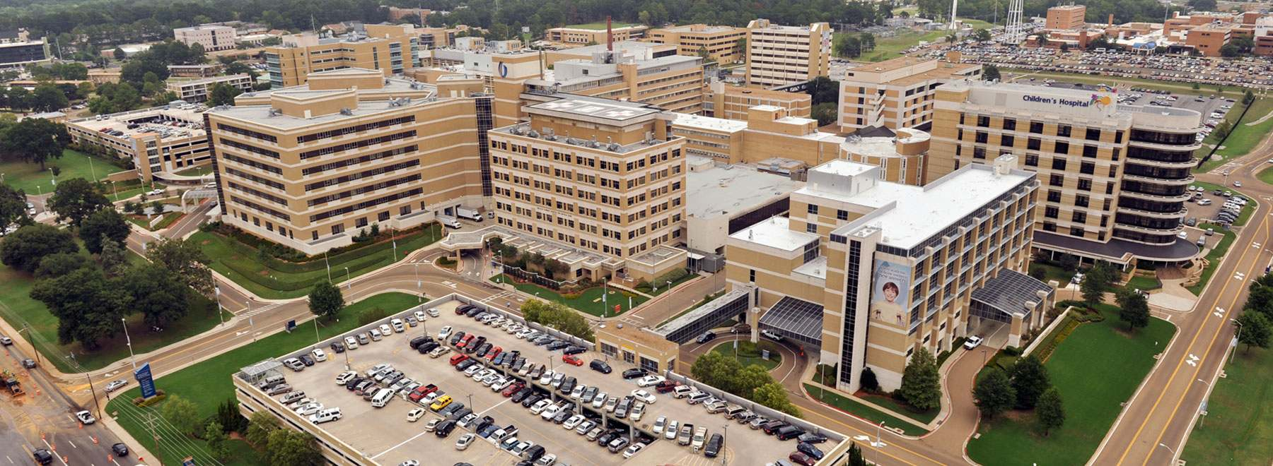 Aerial photograph of UMMC campus