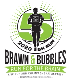 MINDBrawn and Bubbles logo green runner