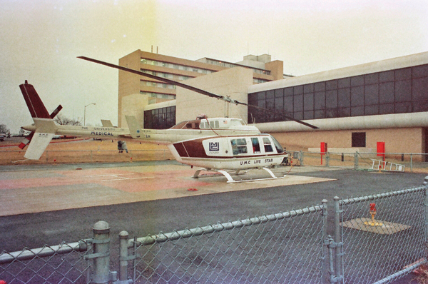 The Medical Center's original helicopter, Lifestar, was in service from 1983-1990.