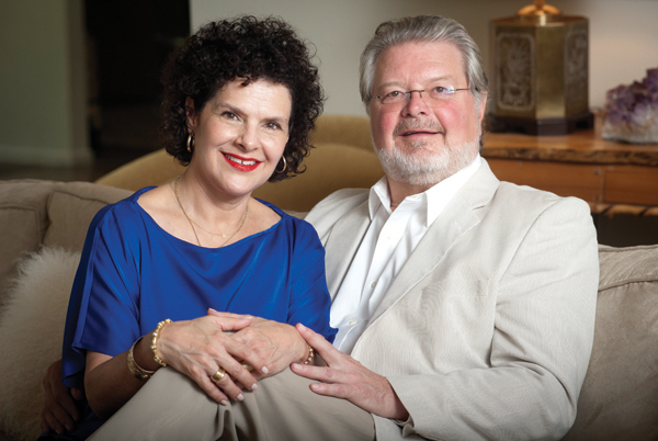 Dr. Paul Parker and his wife, Kerry, relax at their home in Jackson.