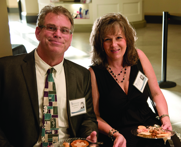 Dr. James Stanford, left, and Dr. Barbara Goodman, share their memories about the Class of 1989.