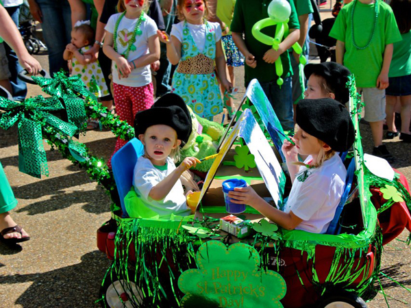 A morning children's parade is always a favorite before the heavy revelry begins in the afternoon at the Mal's St. Paddy's Parade.