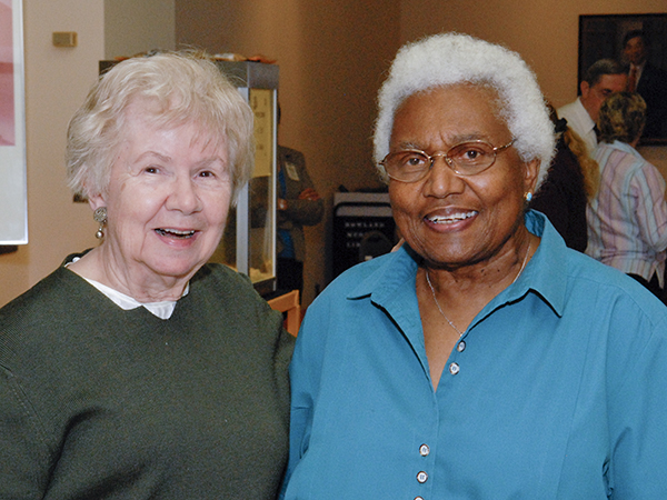 Graham, left, and Dr. Helen Barnes, UMMC retired obstetrician-gynecologist, reunite in April 2008, decades after Graham's retirement.