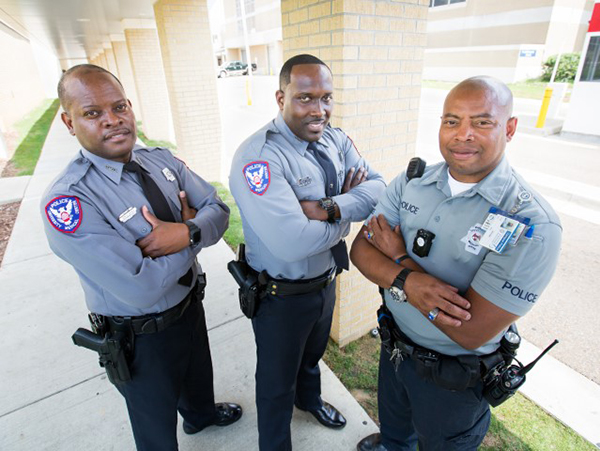 UMMC's TOP COP officers include, from left, Benito Haymer, Da'Varius Jackson and Eric White.