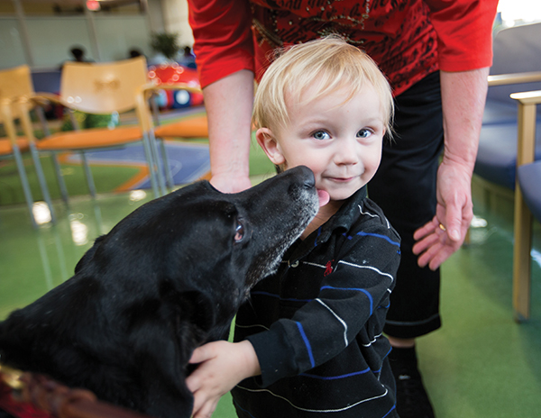 Pet therapy dogs are kids' best friends at Batson Children's Hospital