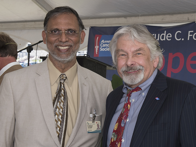 Dr. Srinivasan Vijayakumar, director of the UMMC Cancer Institute's Department of Radiation Oncology, and Dr. Ralph Vance, professor emeritus, worked on the fundraising together.