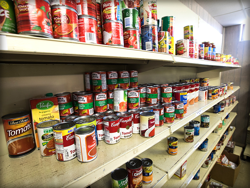 The Food Pantry at Stewpot Community Services on West Capitol Street in Jackson.