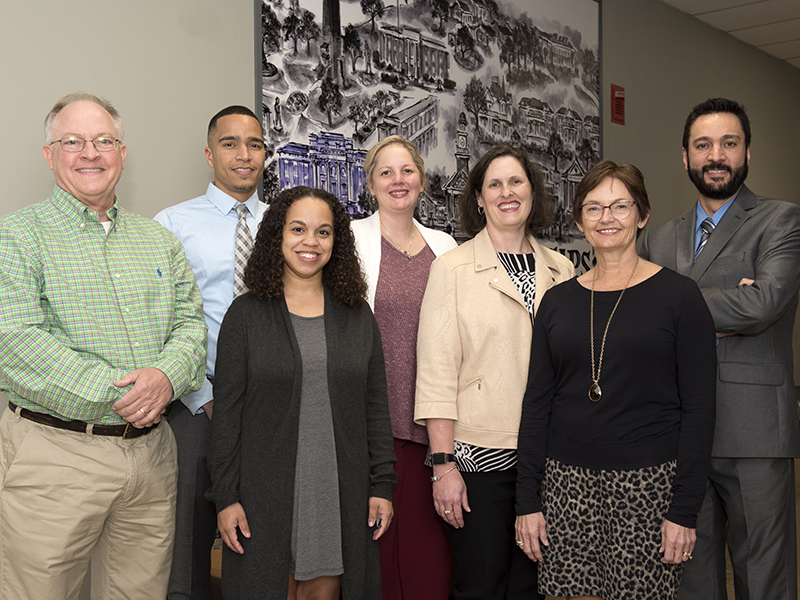 UMMC faculty participating in the Millsaps College Business Advantage Program for Professionals include, from left, Dr. William Boteler, Dr. Richard Wells, Dr. Jasmine Hollinger, Dr. Rebecca Sugg, Dr. Tracy Dellinger, Dr. Stephanie Elkins and Dr. Saeed Bajestani.