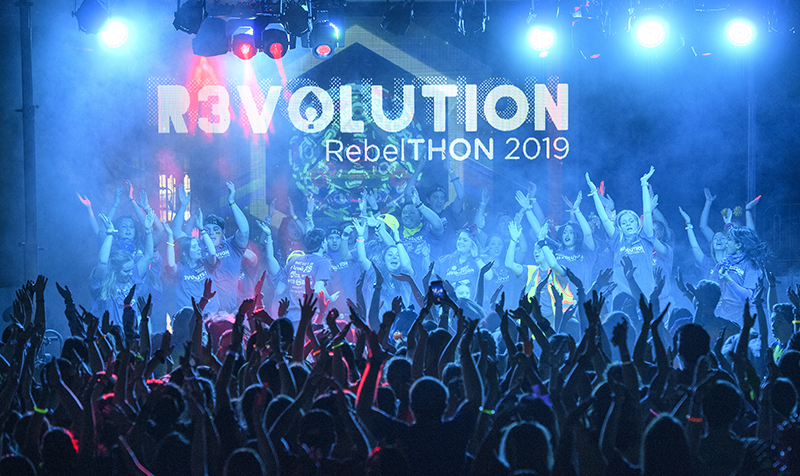 Hundreds of University of Mississippi students cap off fundraising efforts with the 2019 RebelTHON dance marathon.
