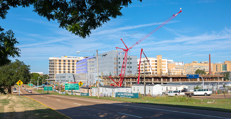 Construction of the $180 million children's hospital expansion is progressing on schedule toward a fall 2020 opening.