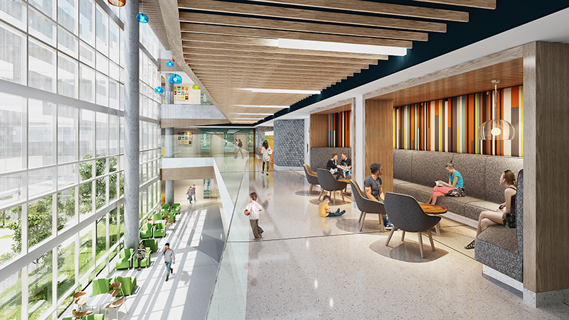 Artist's rendering of new Children's Expansion lobby