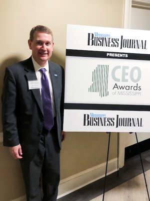 Dr. Guy Giesecke is all smiles after being named among the CEOs of the Year by the Mississippi Business Journal.