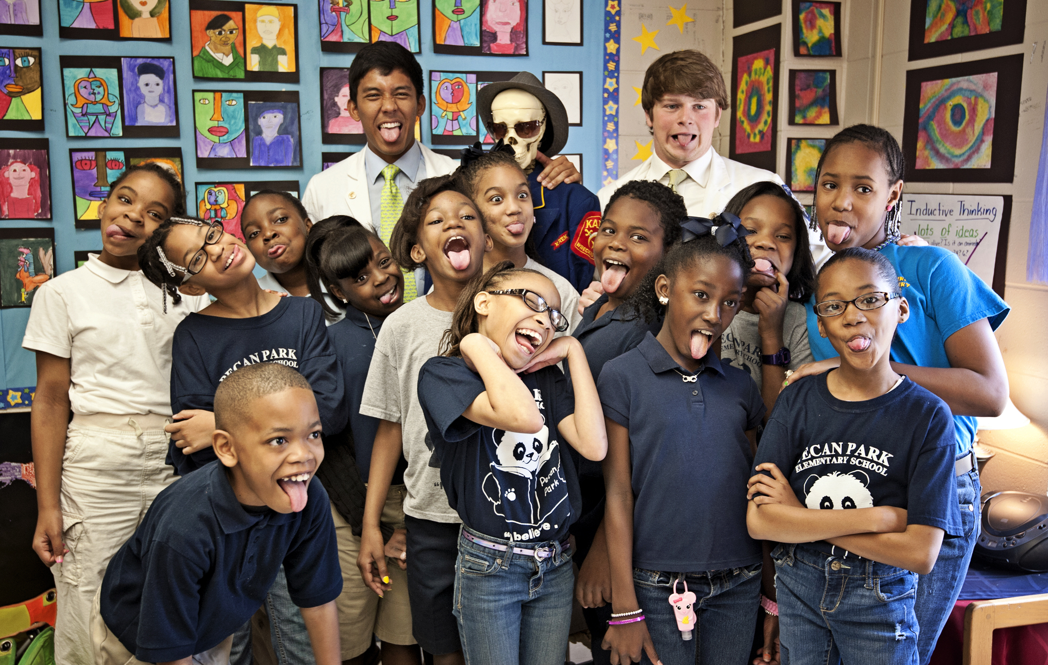 With Mikey Arceo, and Turner Brown, Pecan's 4th graders include First row: Nicolas McKee, Kirstin Lakes, Makedra McCoy, Adriana Cavitt  Second row: Phelicity Lett, Alondria Taylor, Madisen Moses, Percia Blair, Charity Ashford, Aisja Shirley, Sarahdrick Mitchell, Kynedi Nichols, Taniya Adams