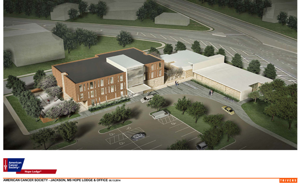 Artist rendering of Jackson, MS Hope Lodge and Office