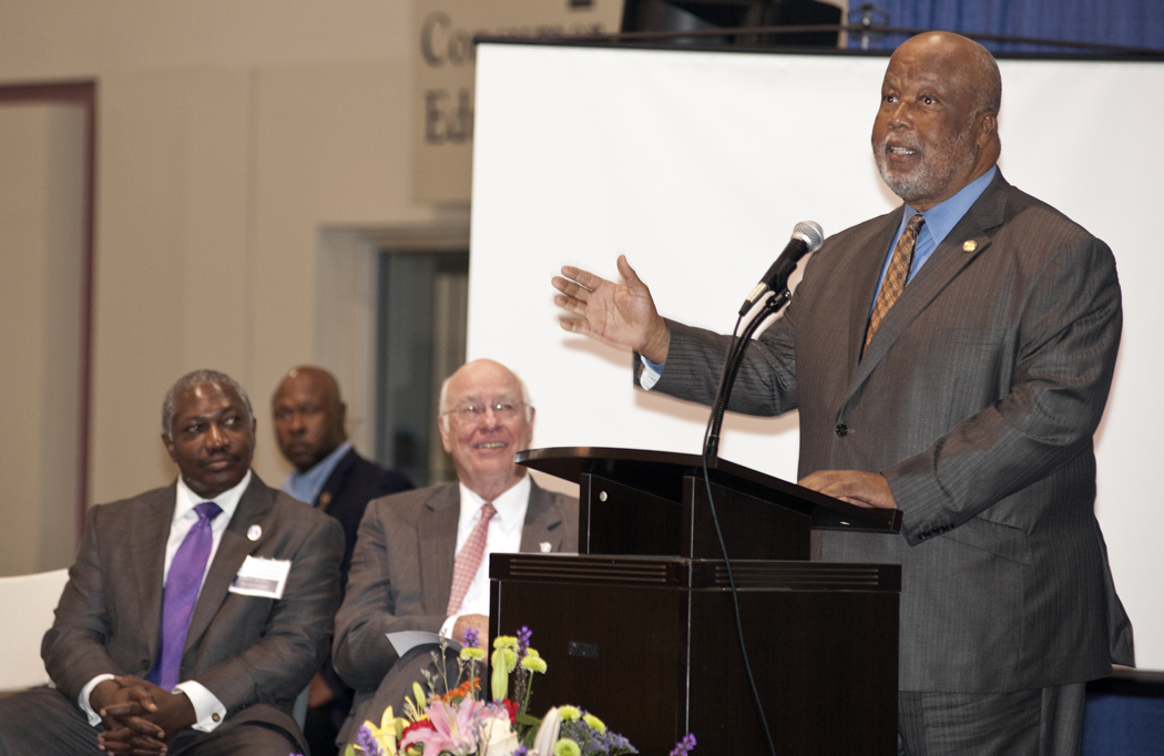 U.S. Rep. Bennie Thompson addresses the crowd.