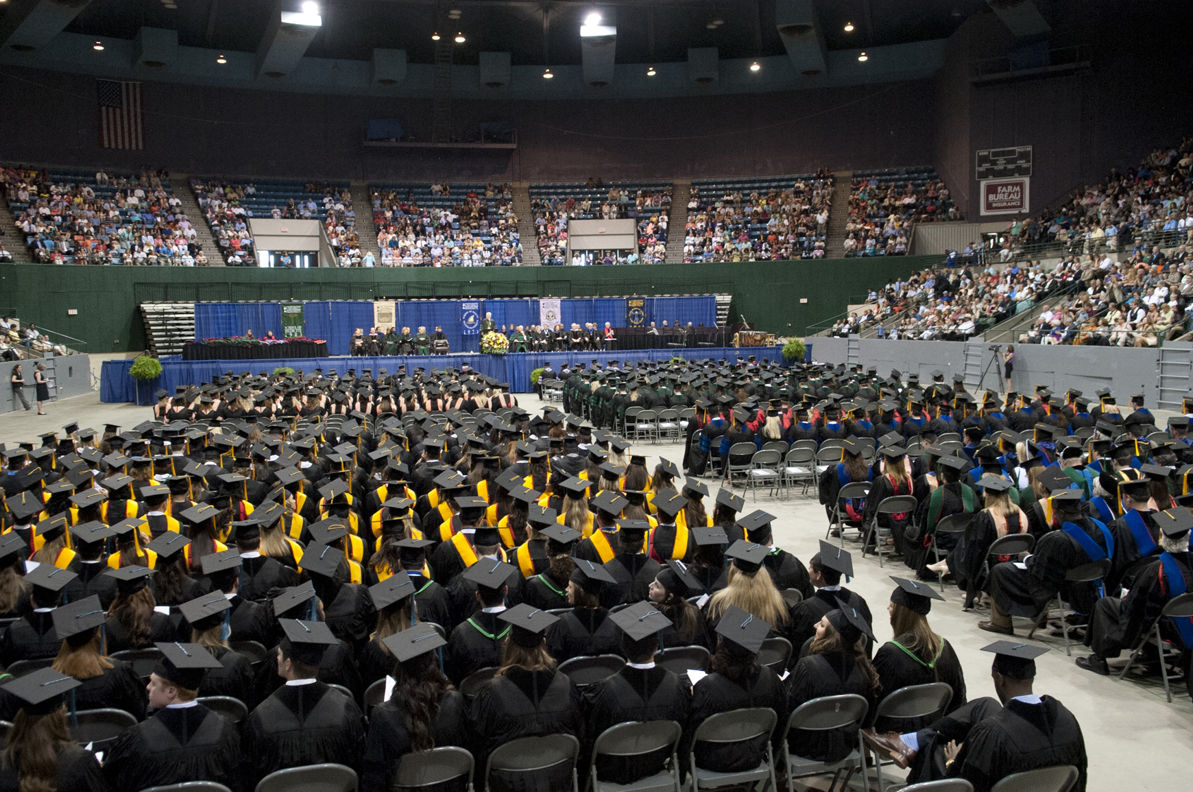 Thousands gathered to cheer on loved ones and share in the celebration of the University of Mississippi Medical Center's 58th annual commencement ceremonies May 23 at the Mississippi Coliseum in Jackson. A record 846 students received degrees in the health professions.