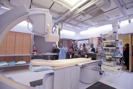 One of University Heart's two new electrophysiology laboratory.