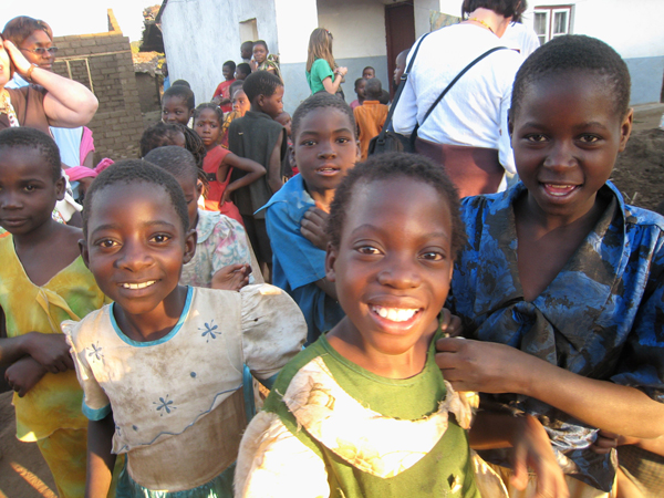 Irby ministered to hundreds of children while on a church mission trip to Malawi in 2008.