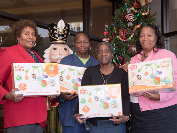 UMMC security guard Mattie Amos remembered with gifts for babies
