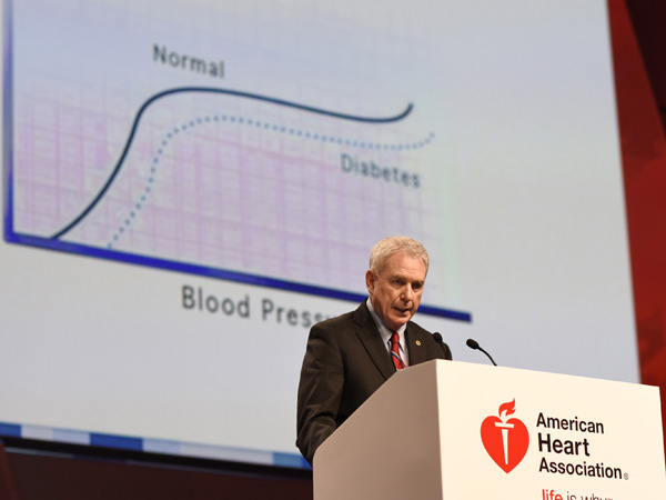 Jones discusses the SPRINT results at the American Heart Association Scientific Sessions meeting in Orlando, FL on November 9.