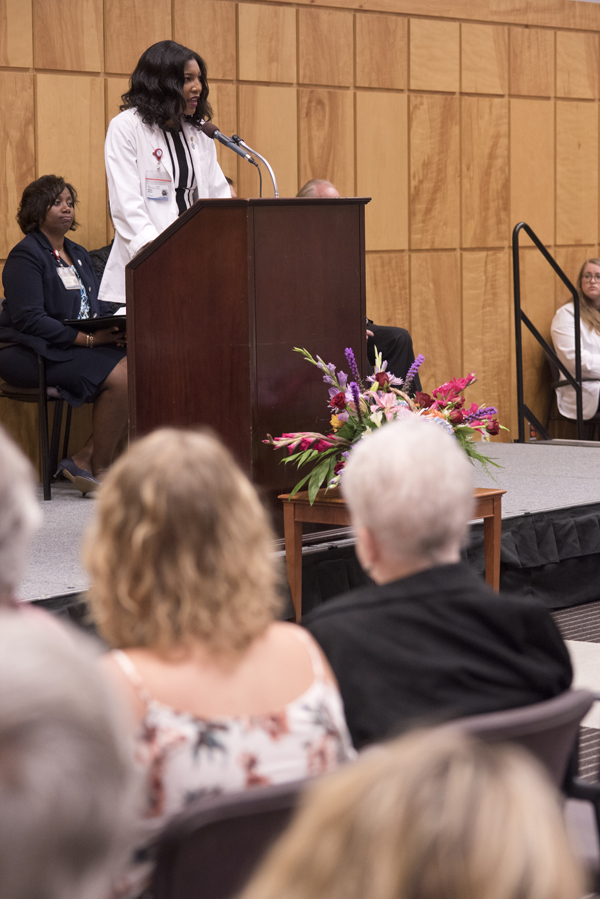 M1 Michelle Wheeler spoke to the donor families and friends during the ceremony.