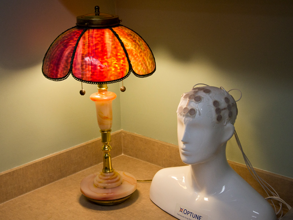 Dr. Pack finds broken lamps from area flea markets, second-hand stores and thrift shops and repurposes the parts to make his artistic recreations.