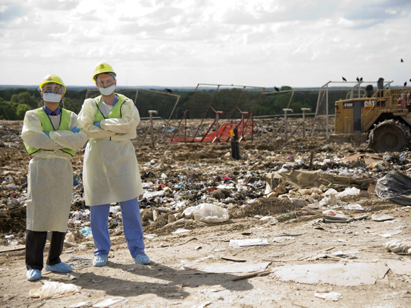 Going above, beyond and to the landfill for patient care