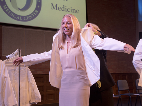Entering medical students urged to wear their hearts on their coats