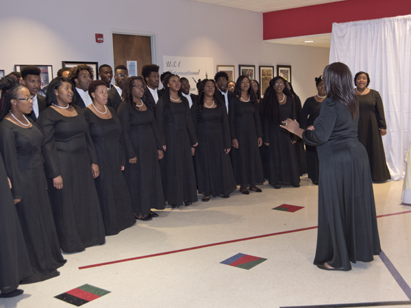 Setting the Mississippi mood of BankPlus' Enchanted Evening was the Jackson State University Chorale, under the direction of Loretta Galbreath.