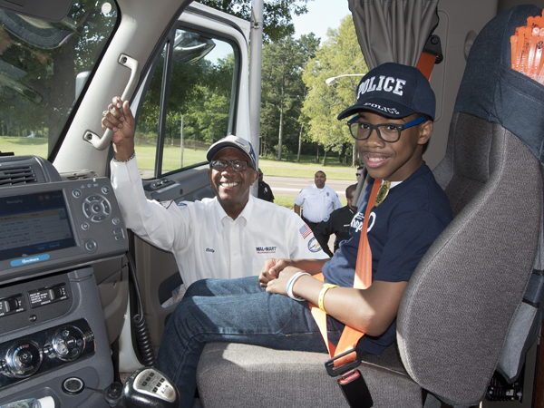 CMN Champion's big rig ride revs up excitement for Walmart drive