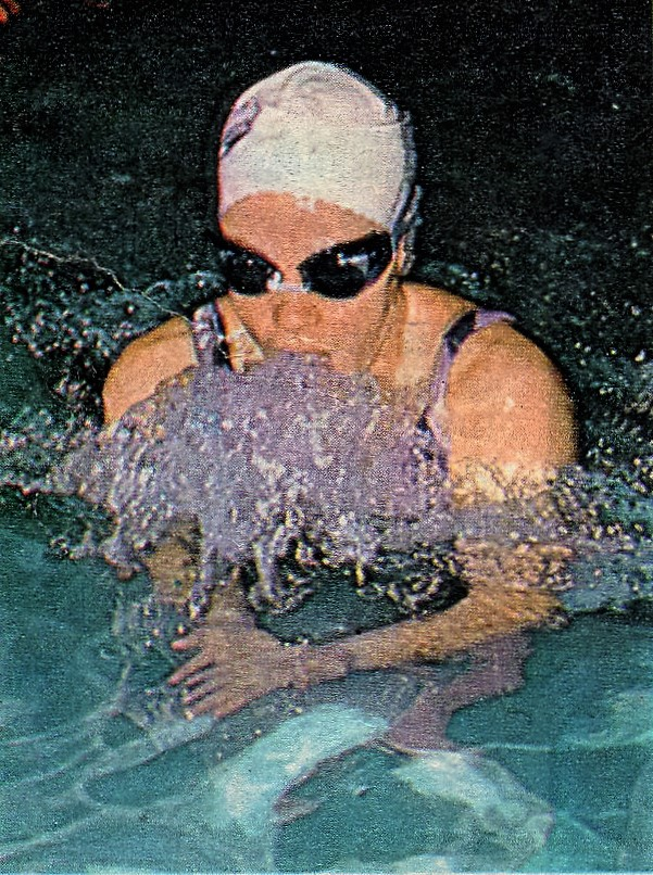 Valentina Juncos during her days as a world-class swimmer.