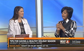 Josie Bidwell, an assistant professor in the School of Nursing, talks to WLBT Midday Mississippi host Joy Redmond about healthy eating during the holiday season.