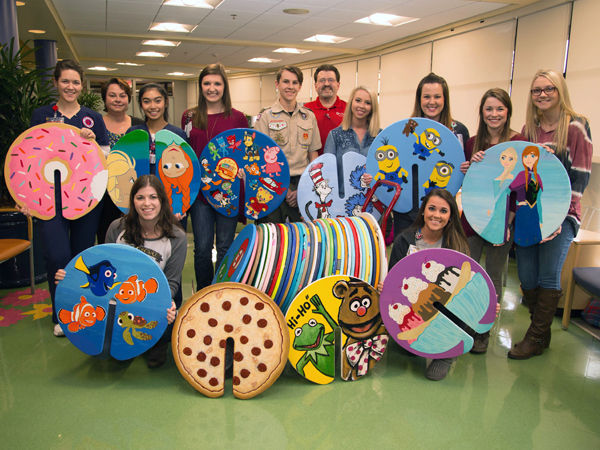 Nursing students lend artistic hand to scout's project