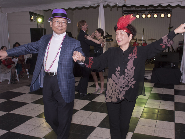 Dr. Ching-jygh Chen, professor of dermatology, and his wife Lin show off their dance moves.