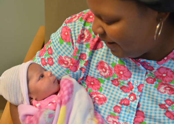 UMMC's first baby of New Year is pretty in pink