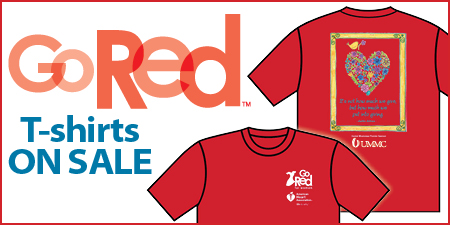 Go Red for Women t-shirt sale is one of the many activities planned to recognize Heart Month