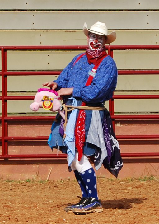 Being a rodeo clown is all in a day's work for UMMC perioperative services director Chip Thomason.