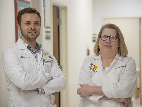 Nurse Kyle Possemato and Weisenberger are ready to see patients at the new Children's of Mississippi Complex Care Clinic.