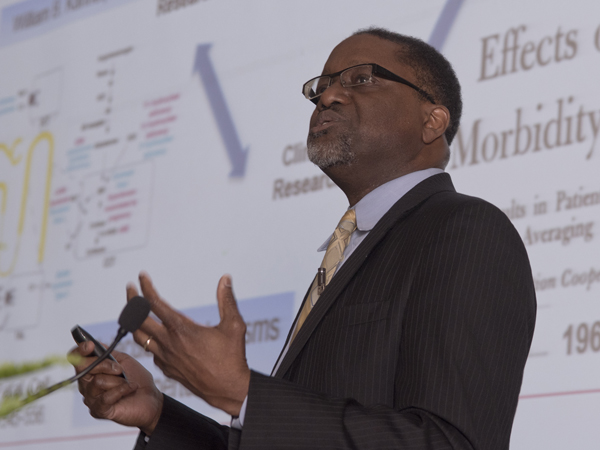 Charting the future of medicine: Dr. Gary Gibbons, director of the NHLBI, delivered the 19th Gertrude and Florian Nelson Cardiovascular Research Lecture on Mar. 17.