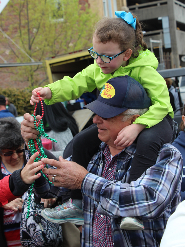 It's all about the beads, plus helping Batson Children's Hospital. Hal's St. Paddy's Parade goers were making donations and getting some Mardi Gras bling-bling in return.