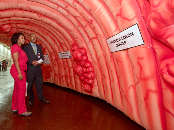 Colorectal screening takes big inflatable turn
