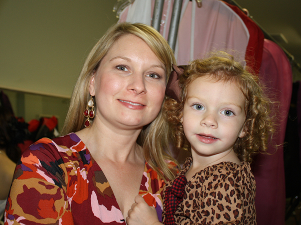 Dr. Nikki Shoemake-Patterson and daughter Grace visit backstage together during a November 2012 beauty review in Vicksburg featuring stepdaughter Morgan Patterson.