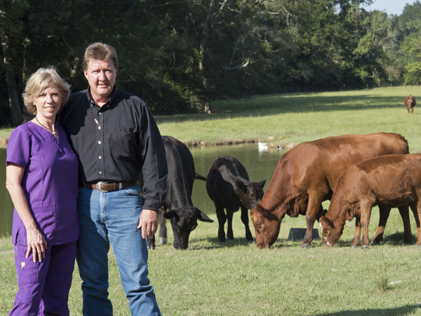 MacSorley, left, introduced her Jacksonian husband, Billy, right, to life on a farm.